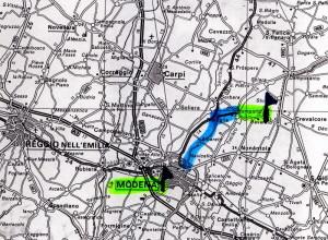 mappa sorbara - modena